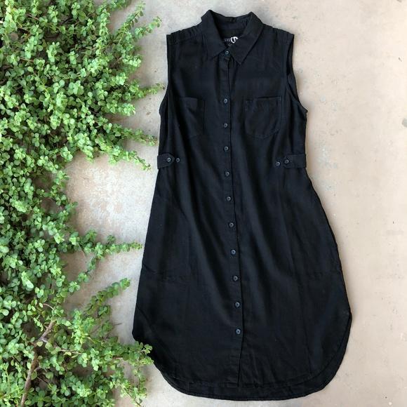 f78d04ee4b36 Level 99 Dresses & Skirts - Level 99 Black Sleeveless Button Down Shirt  Dress